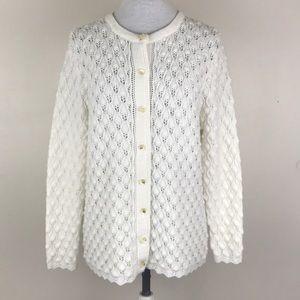 Vintage Billie Jo Lace Knit Cardigan Sweater